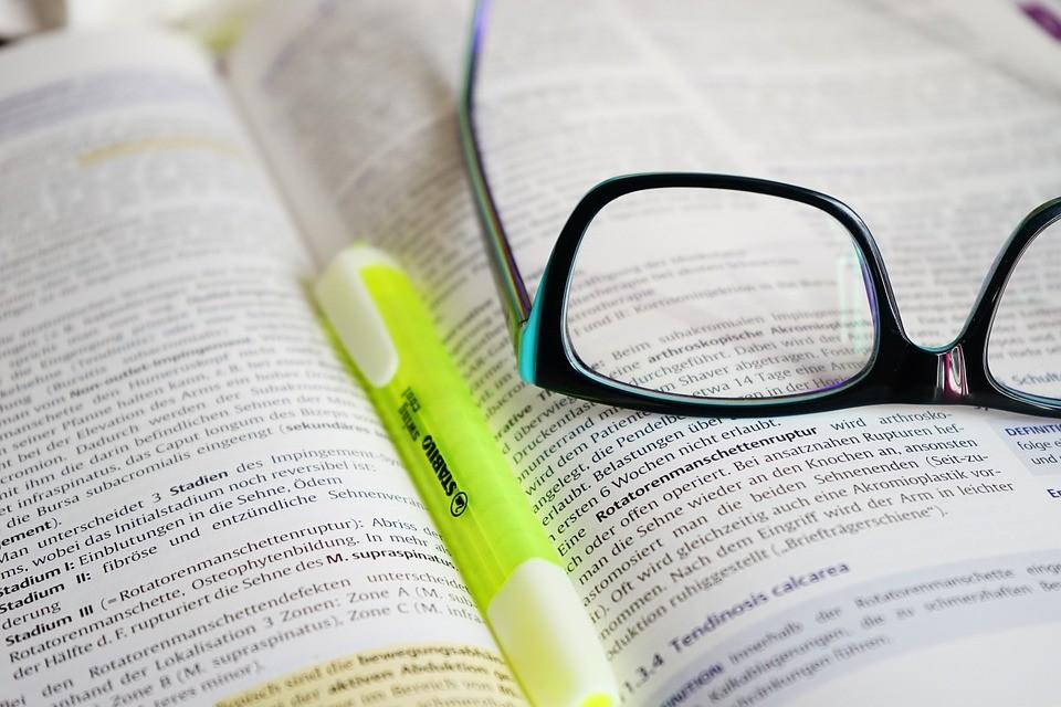 occhiali, lettura, imparare